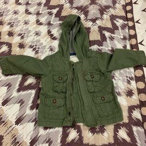 12 month lightweight parka army green